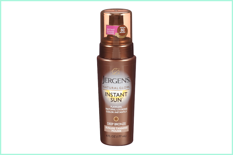 Jergens Natural Glow Instant Sun Deep Bronze Sunless Tanning Mousse. (Photo: Walmart)