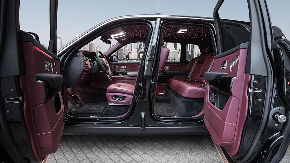 The armored Cullinan's lavish cabin can be customized with high-end materials. - Credit: Klassen
