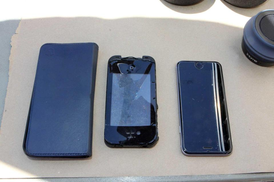 When Las Cruces police processed David Anthony's vehicle, they recovered these cell phones; one belonged to Gretchen Anthony. Investigators believe it was used by David to send those fake text messages from Gretchen.  / Credit: Palm Beach County State Attorney's Office