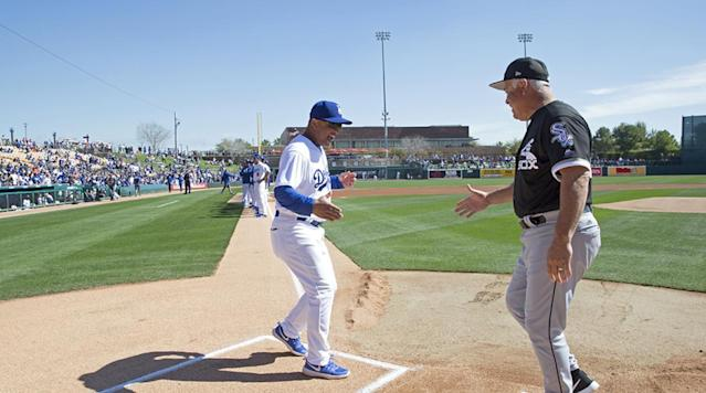 <p>A home plate meet and greet with White Sox manager Rick Renteria...</p>
