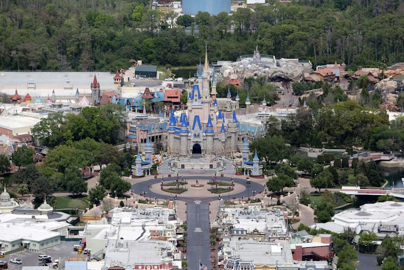 Guests will soon return to Walt Disney World, pictured empty in March, but what will it be like? (Photo: Alex Menendez/Getty Images)