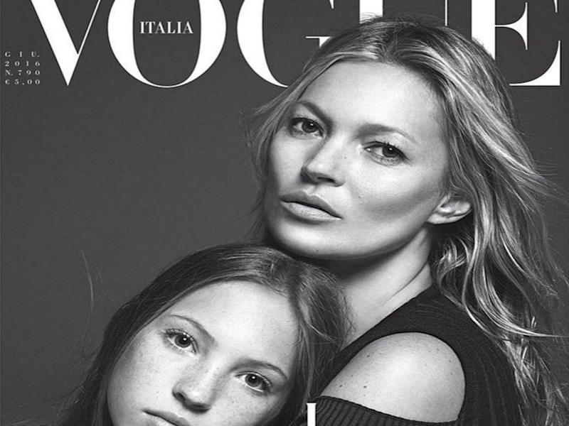 Kate Moss joined by daughter for Vogue magazine cover