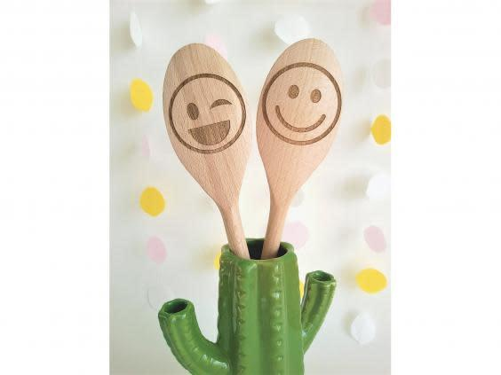 A fun gift for a baking fan, use these spoons to whip up cakes, cookies and cupcakes (Etsy)