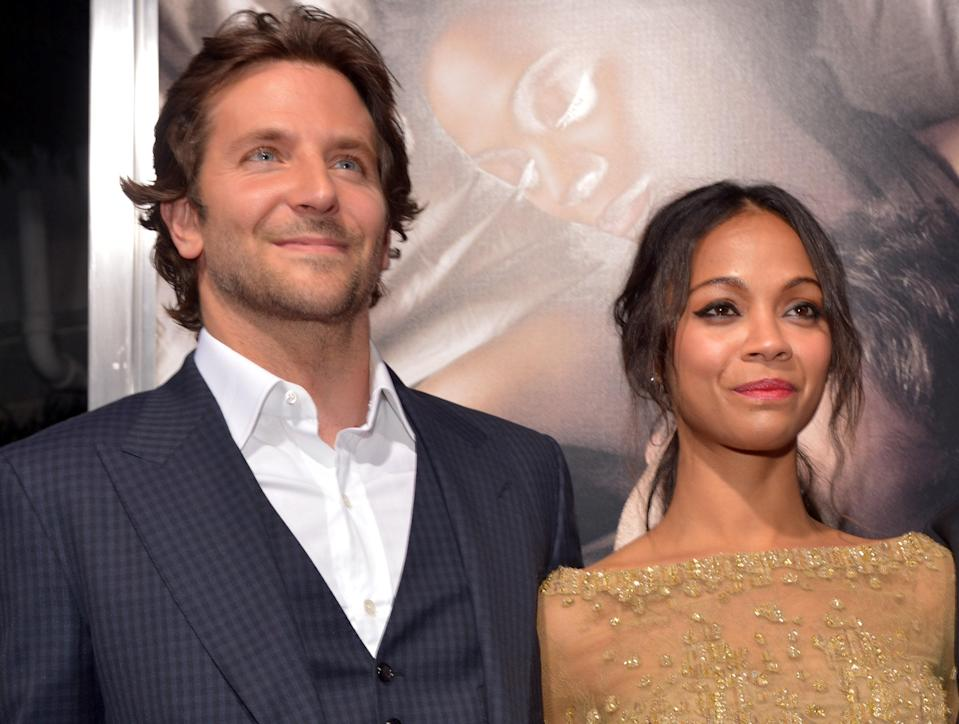 Zoe Saldana and Bradley Cooper are both in <em>The Guardians of the Galaxy,</em> but the two actually dated a few years before the Marvel movie premiered. In 2011, while filming <em>The Words,</em> they had a brief on-and-off fling. It wasn't very serious: In fact, a few months after their split, Saldana married artist Marco Perego.