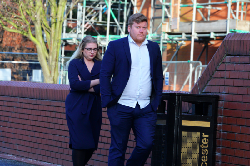 Johnson, pictured with wife Lia, worked at KFC after getting a first class degree in business studies (Reach/BMP Media)