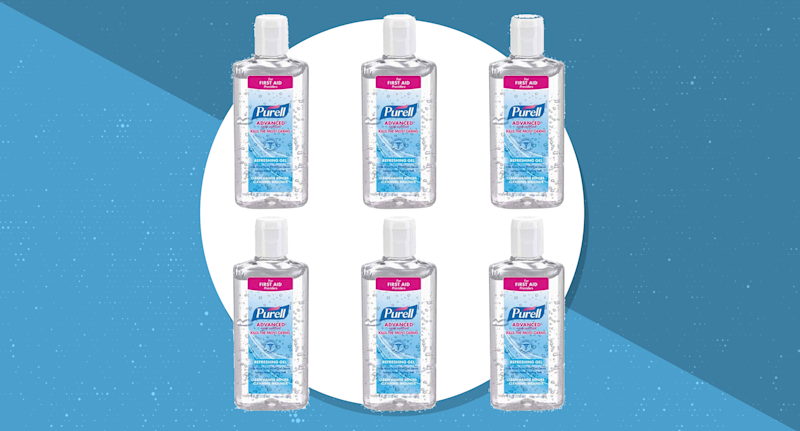 Purell Advanced Hand Sanitizer, six pack — 4 fluid ounce each. (Photo: Purell)