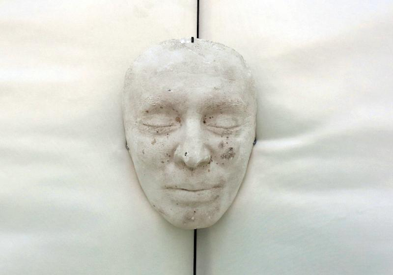 The death mask of former  Albanian communist dictator Enver Hoxha who ruled from 1944 till his death in 1985. He isolated the Balkan country and imposed a strict dictatorial regime