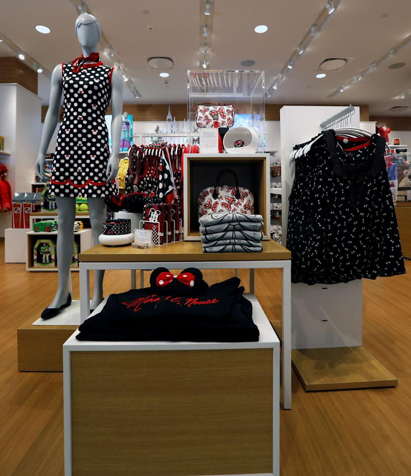 Minnie Mouse themed items are pictured at a Disney Store in Los Angeles, California, U.S., September 25, 2017. REUTERS/Mario Anzuoni