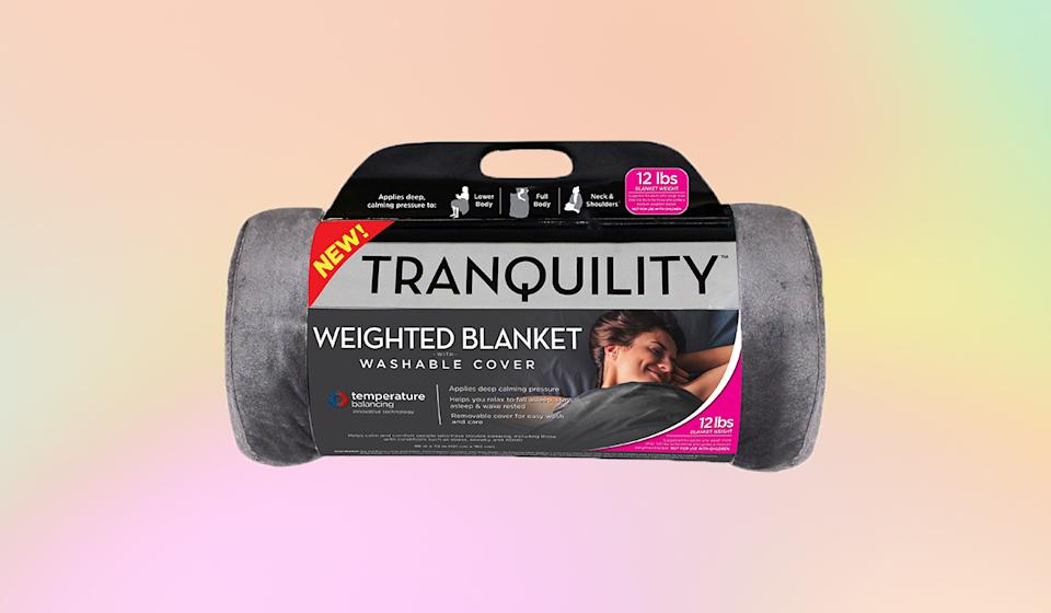 The Tranquility weighted blanket really has the perfect name. (Photo: Walmart)