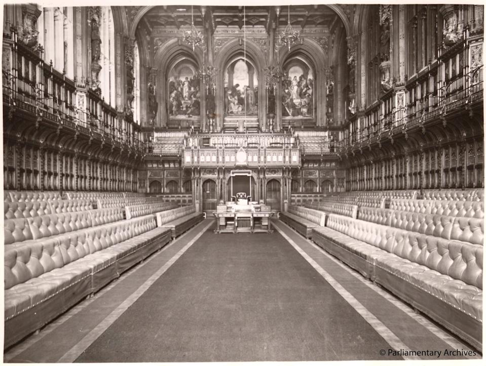 MPs secretly moved to the House of Lords (©Parliamentary Archives)