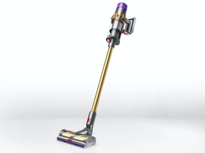 The new Dyson replaces Mr Falgate's old pull-along vacuum cleaner which broke the week after he won the lottery (Dyson)