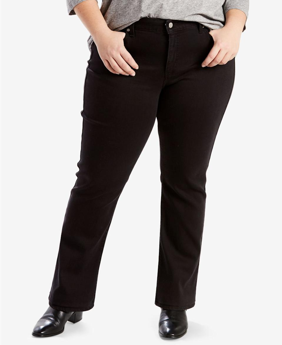 """<br><br><strong>Levi's</strong> Plus Size 414 Classic Straight-Leg Jeans, $, available at <a href=""""https://www.macys.com/shop/product/levis-trendy-plus-size-414-classic-straight-leg-jeans?ID=2770181&CategoryID=80422"""" rel=""""nofollow noopener"""" target=""""_blank"""" data-ylk=""""slk:Macy's"""" class=""""link rapid-noclick-resp"""">Macy's</a>"""
