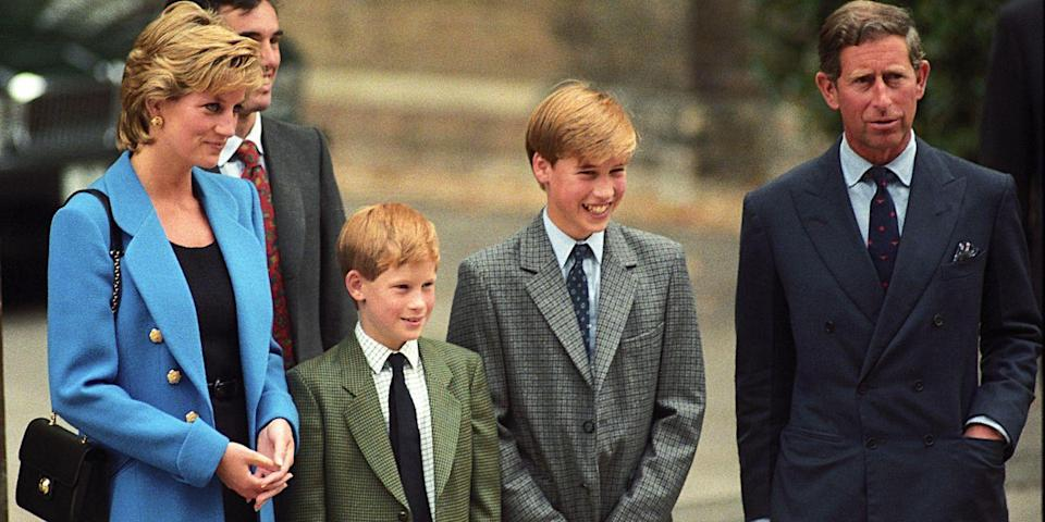 <p>Harry accompanies Prince William to his first day of school at Eton College. </p>