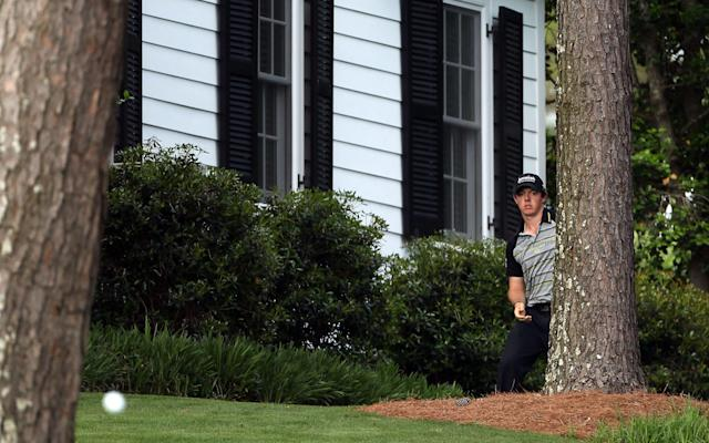 <span>McIlroy's 2011 collapse started with a snap-hook into the trees on the 10th</span> <span>Credit: Getty Images </span>