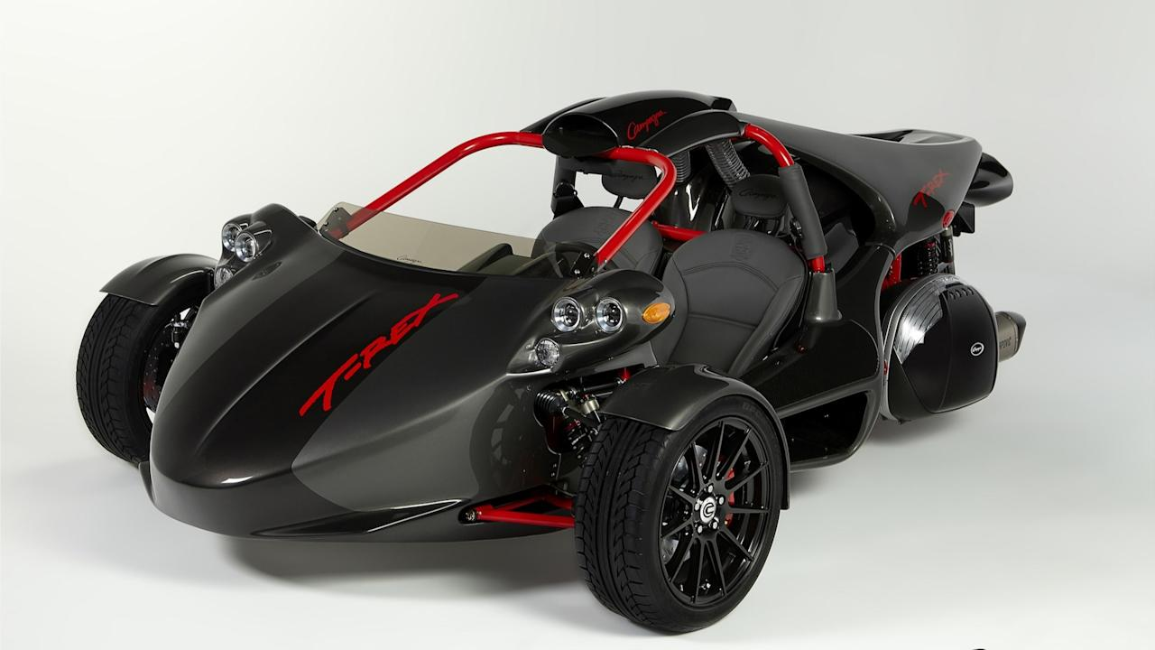 "<p>The Canadian <a rel=""nofollow"" href=""https://www.motor1.com/news/54106/campagna-20th-anniversary-t-rex-limited-edition-unveiled-video/"">Campagna T-Rex</a> is probably among the most badass three-wheelers that have ever been produced. Aside from its imposing exterior design, the T-Rex has something under its hood that might surprise you.</p> <p>The T-Rex had different types of engines throughout its existence, but the most notable is its 20th Anniversary Edition that's powered by an inline 1.65-liter six-cylinder <a rel=""nofollow"" href=""https://www.motor1.com/bmw/"">BMW</a> engine. It can produce 160 horsepower at 7,750 rpm and 129 pound-feet of torque at 5,250 rpm. It also features a fully adjustable stage 5 suspension and a high-performance braking system with ventilated and drilled discs and steel braided brake lines.</p>"