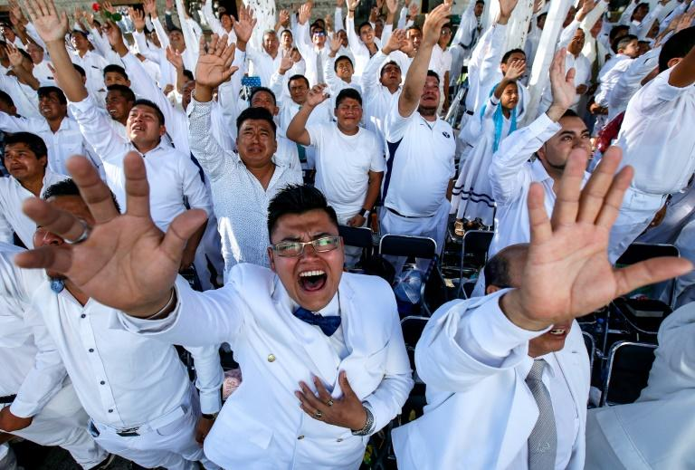 """More than half a million members of a Mexican Pentecostal church held a """"holy supper"""" in Guadalajara, one of the largest religious ceremonies in the world"""
