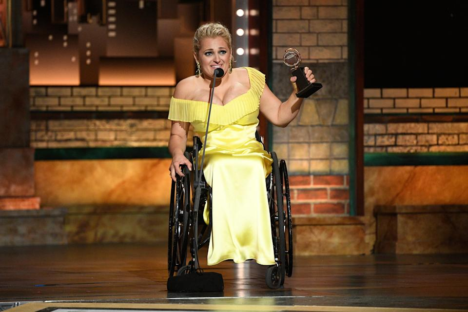"""In 2019, Ali Stroker became the first wheelchair user to win a Tony Award, taking home best featured actress in a musical for her role in the Broadway revival of """"Oklahoma!"""""""