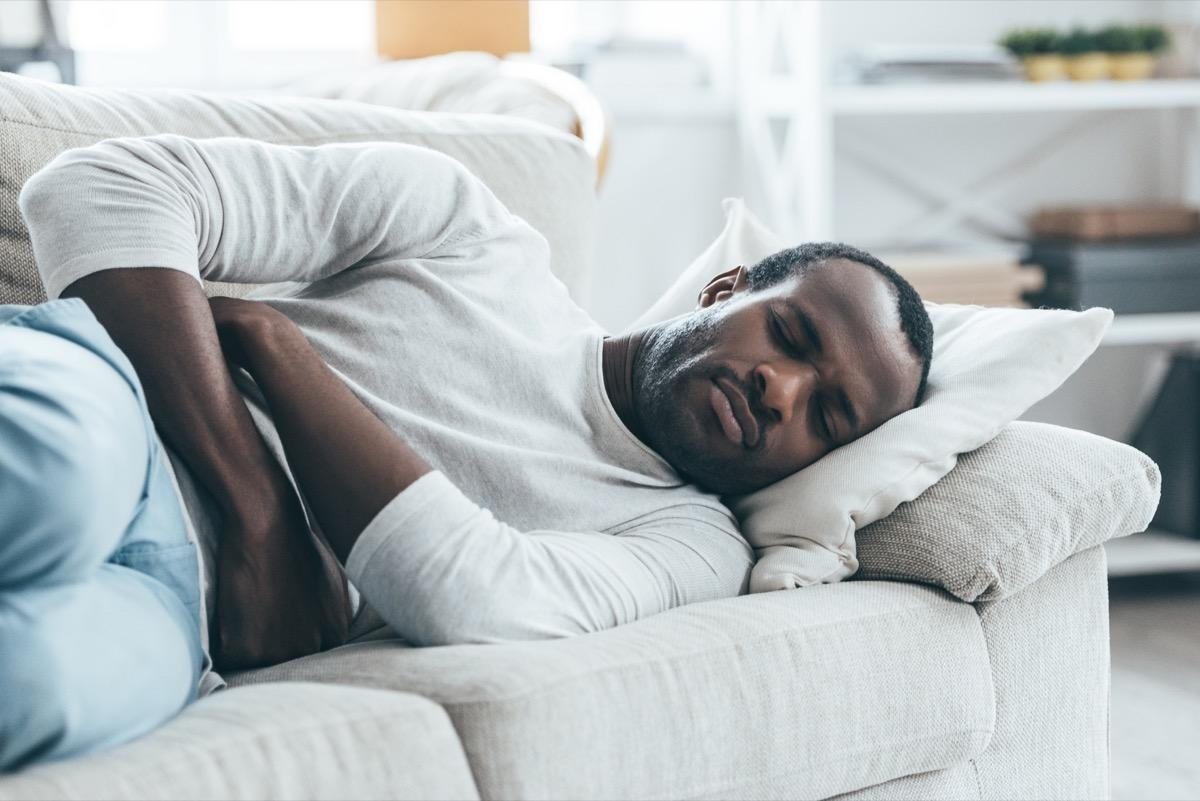 """According to Patel, <a href=""""https://bestlifeonline.com/stomach-symptoms-health/?utm_source=yahoo-news&utm_medium=feed&utm_campaign=yahoo-feed"""" target=""""_blank"""">sudden onset nausea or vomiting</a> could be another symptom of a stroke. He explains that both of these symptoms occur """"due to a blocked artery or bleeding in the brain."""""""
