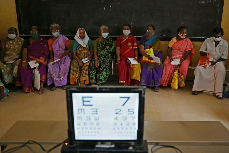 There are an estimated 10 million blind people in India, with a further 50 million suffering from some form of visual impairment (AFP/Arun SANKAR)