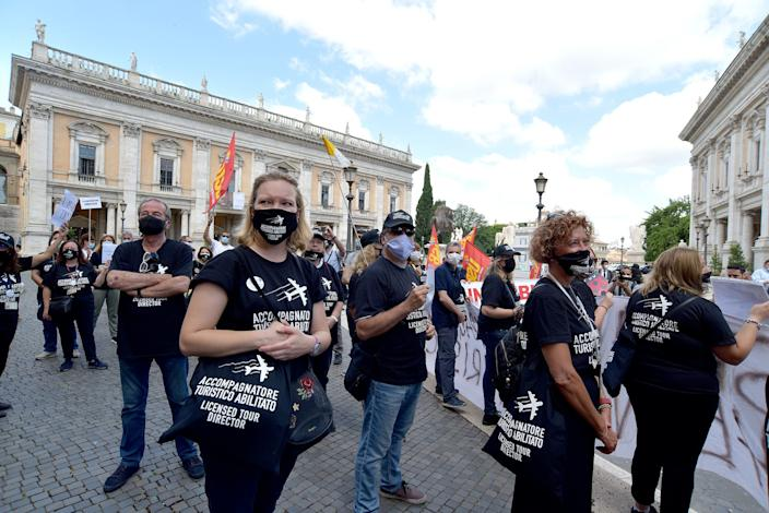 Italy tourism protest