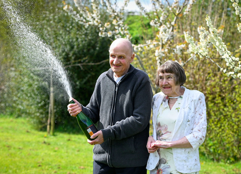 Denis and Ann Fawsitt are planning to treat themselves to a house and garden makeover. (SWNS)