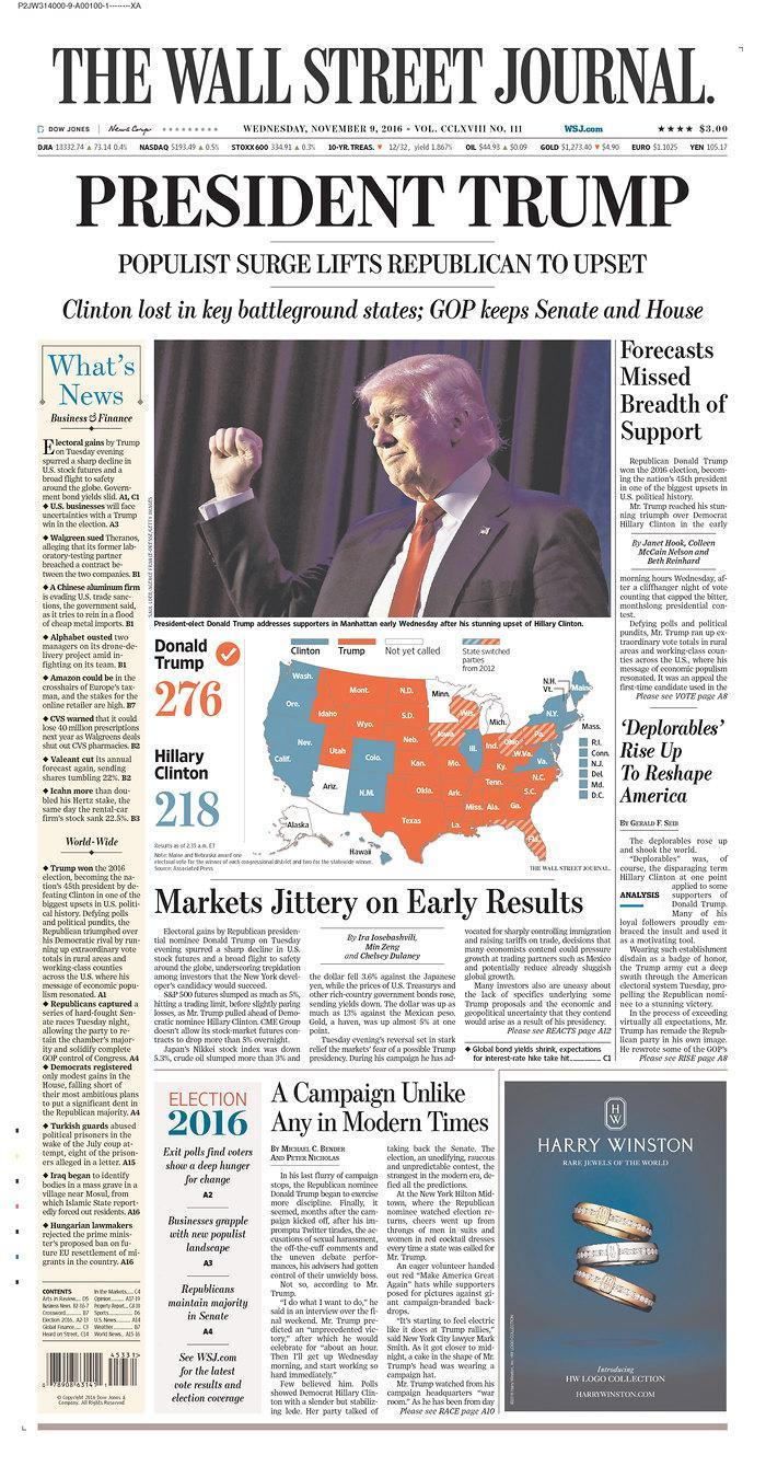 <p>The Wall Street Journal, New York, N.Y., USA. </p>