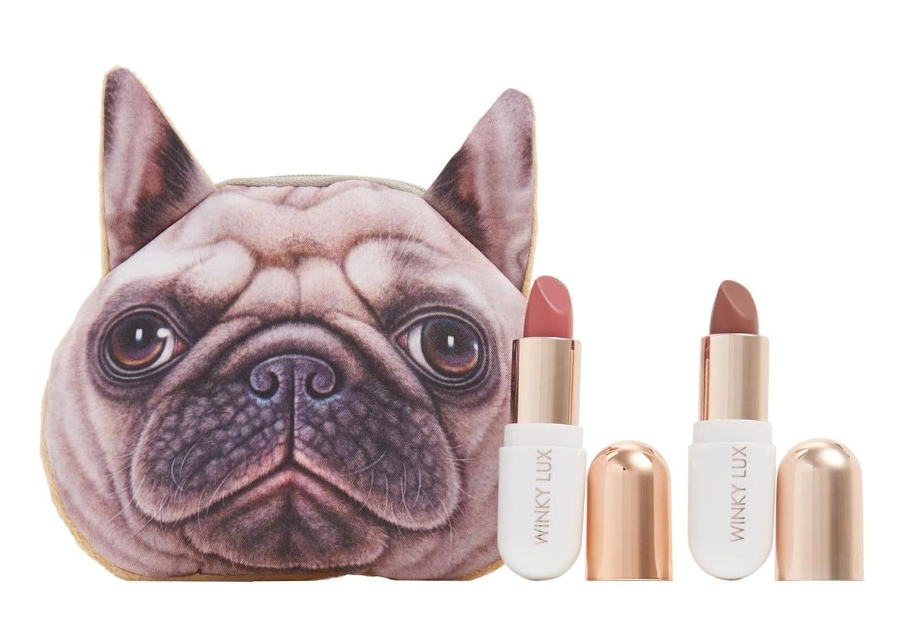 """<p>You know you want this <a href=""""https://www.popsugar.com/buy/Winky-Lux-Pug-Lip-Kit-479157?p_name=Winky%20Lux%20Pug%20Lip%20Kit&retailer=shop.nordstrom.com&pid=479157&price=24&evar1=savvy%3Aus&evar9=46491497&evar98=https%3A%2F%2Fwww.popsugar.com%2Fsmart-living%2Fphoto-gallery%2F46491497%2Fimage%2F46492575%2FWinky-Lux-Pug-Lip-Kit&list1=shopping%2Cdogs%2Cgift%20guide%2Cpugs&prop13=mobile&pdata=1"""" rel=""""nofollow"""" data-shoppable-link=""""1"""" target=""""_blank"""" class=""""ga-track"""" data-ga-category=""""Related"""" data-ga-label=""""https://shop.nordstrom.com/s/winky-lux-pug-lip-kit-nordstrom-exclusive-36-value/4796276?origin=keywordsearch-personalizedsort&amp;breadcrumb=Home%2FAll%20Results&amp;color=none"""" data-ga-action=""""In-Line Links"""">Winky Lux Pug Lip Kit</a> ($24).</p>"""