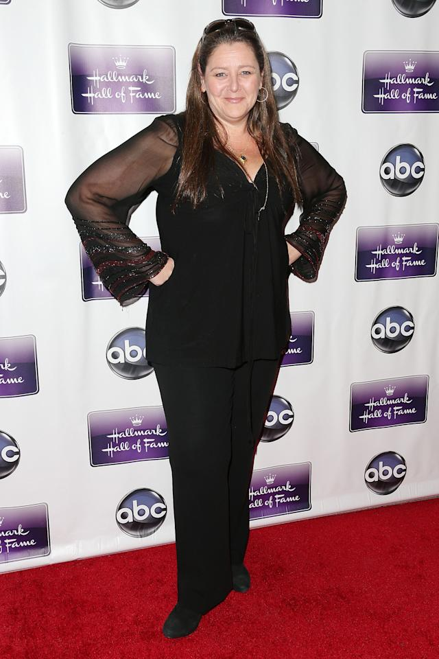 """LOS ANGELES, CA - JANUARY 22: Actress Camryn Manheim attends the Premiere Of Disney ABC Television & The Hallmark Hall Of Fame's """"The Makeover"""" at Fox Studios on January 22, 2013 in Los Angeles, California.  (Photo by Frederick M. Brown/Getty Images)"""