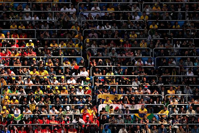 Soccer Football - World Cup - Group E - Brazil vs Costa Rica - Saint Petersburg Stadium, Saint Petersburg, Russia - June 22, 2018 General view of fans in the stands REUTERS/Lee Smith