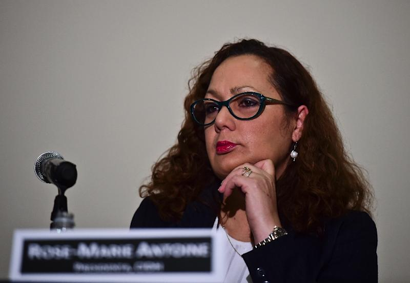 Rose-Marie Antoine, president of the Inter-American Commission on Human Rights, which ended its visit to Mexico concluding that the case of the 43 missing students is part of a wider human rights crisis in the country (AFP Photo/Ronaldo Schemidt)