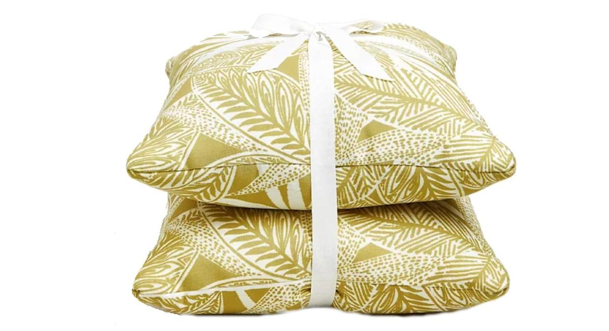 Set of 2 Palm Print Outdoor Cushions