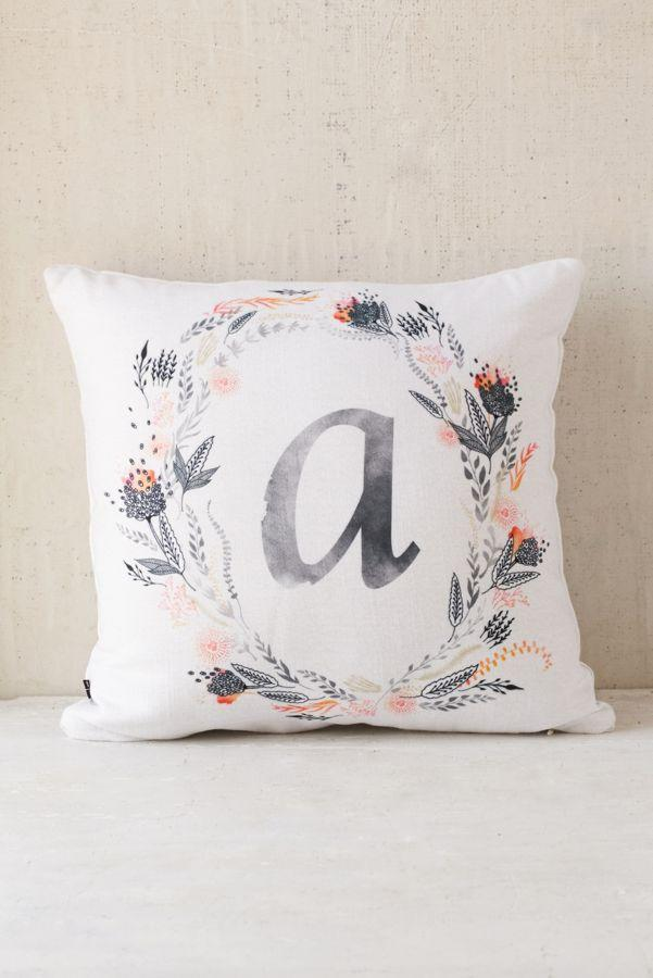 Iveta Abolina For Deny Pink Summer Monogram Pillow
