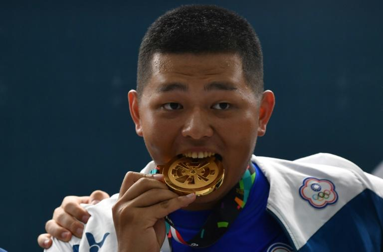 Yang Kunpi of Taiwan won bronze in the men's trap