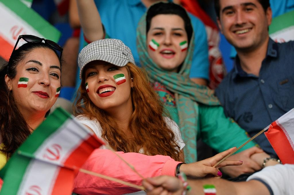 Iranian football fans: currently the country is Asia's top-ranked team at 28 while South Korea, Japan and Australia are the others inside the world's top 50 (AFP Photo/Manjunath Kiran)