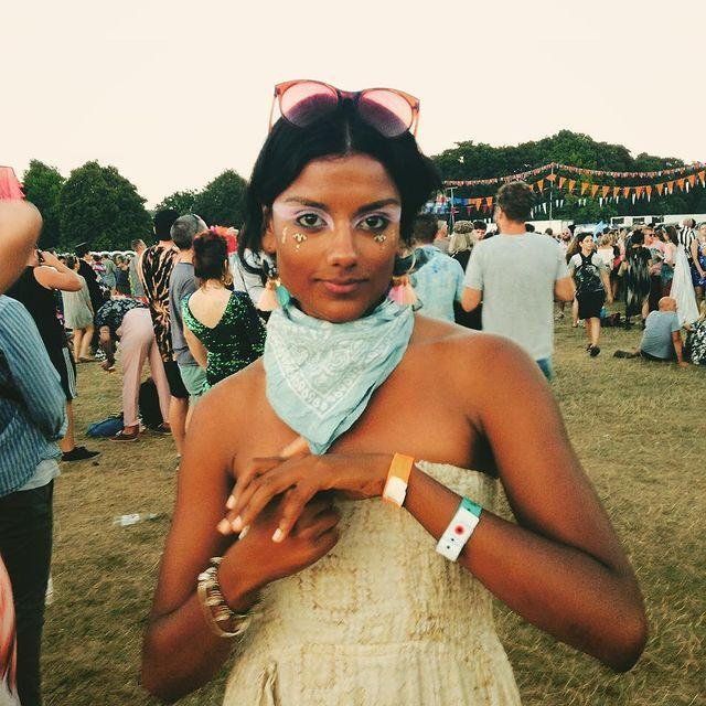 """<p>She's a festival muse, too. This one is an Instagram throwback - we're big fans of the pastel eyeshadow / bandana pairing.</p><p><a href=""""https://www.instagram.com/p/BmItKjln-gT/"""" rel=""""nofollow noopener"""" target=""""_blank"""" data-ylk=""""slk:See the original post on Instagram"""" class=""""link rapid-noclick-resp"""">See the original post on Instagram</a></p>"""