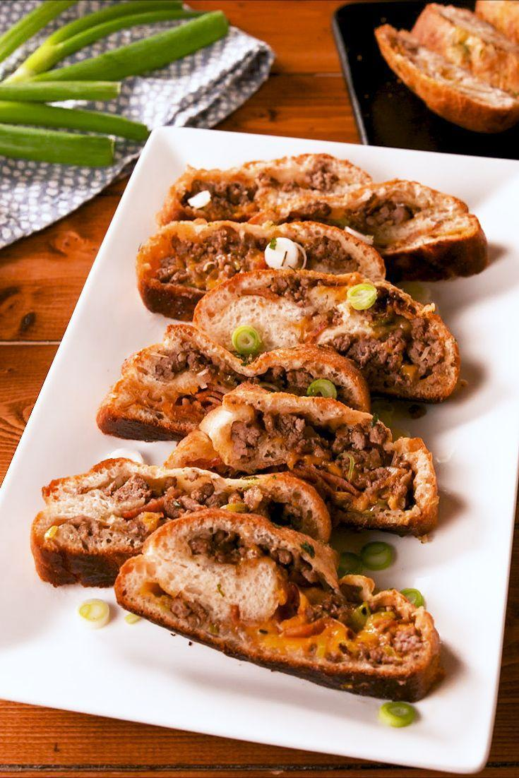 "<p>This garbage bread is stuffed with all the best things: cheese, ground beef, and of course, bacon.</p><p>Get the recipe from <a href=""https://www.delish.com/cooking/recipe-ideas/a27257027/garbage-bread-recipe/"" rel=""nofollow noopener"" target=""_blank"" data-ylk=""slk:Delish"" class=""link rapid-noclick-resp"">Delish</a>.</p>"