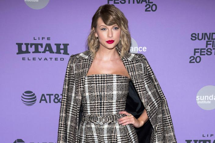 """Taylor Swift attends the premiere of """"Miss Americana"""" during the 2020 Sundance Film Festival on Jan. 23, 2020, in Park City, Utah."""