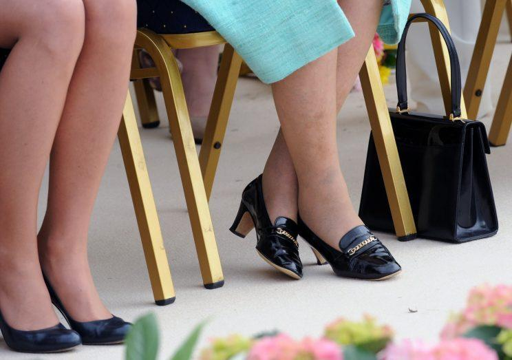<i>The Queen's bespoke shoes cost £1000 a pair [Photo: PA]</i>