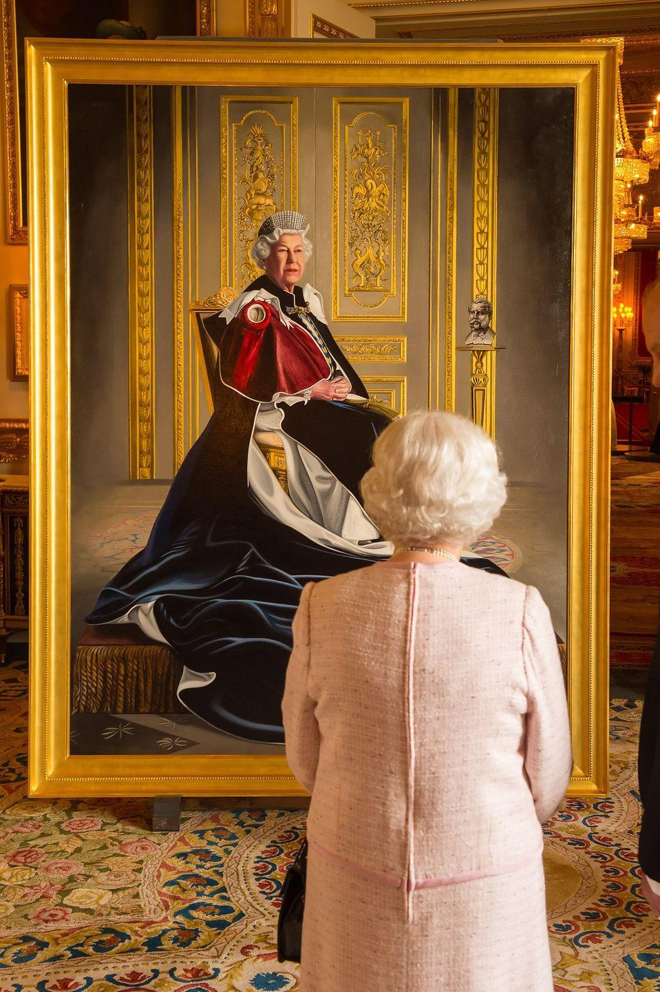 """<p>A Royal Collection Trust <a href=""""https://www.rct.uk/collection/themes/exhibitions/the-queen-portraits-of-a-monarch/windsor-castle-drawings-gallery"""" rel=""""nofollow noopener"""" target=""""_blank"""" data-ylk=""""slk:exhibition"""" class=""""link rapid-noclick-resp"""">exhibition</a> explored the monarch's visual legacy, placing official portraits by the likes of Cecil Beaton and Lucian Freud alongside Andy Warhol screenprints.</p>"""