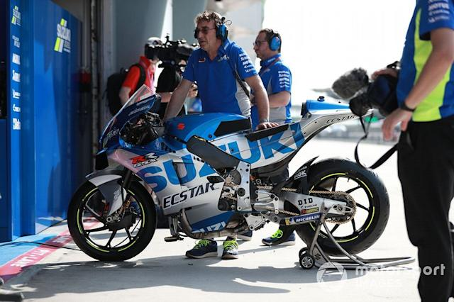 "Team Suzuki MotoGP, moto <span class=""copyright"">Gold and Goose / Motorsport Images</span>"