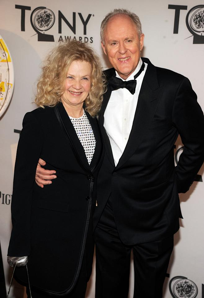John Lithgow and Mary Yeager attend the 66th Annual Tony Awards at The Beacon Theatre on June 10, 2012 in New York City.
