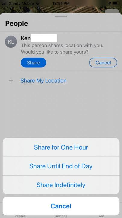 how to use the find my app on iphone add1