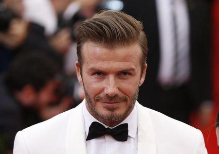 """LISoccer star David Beckham arrives at the Metropolitan Museum of Art Costume Institute Gala Benefit celebrating the opening of """"Charles James: Beyond Fashion"""" in New York"""