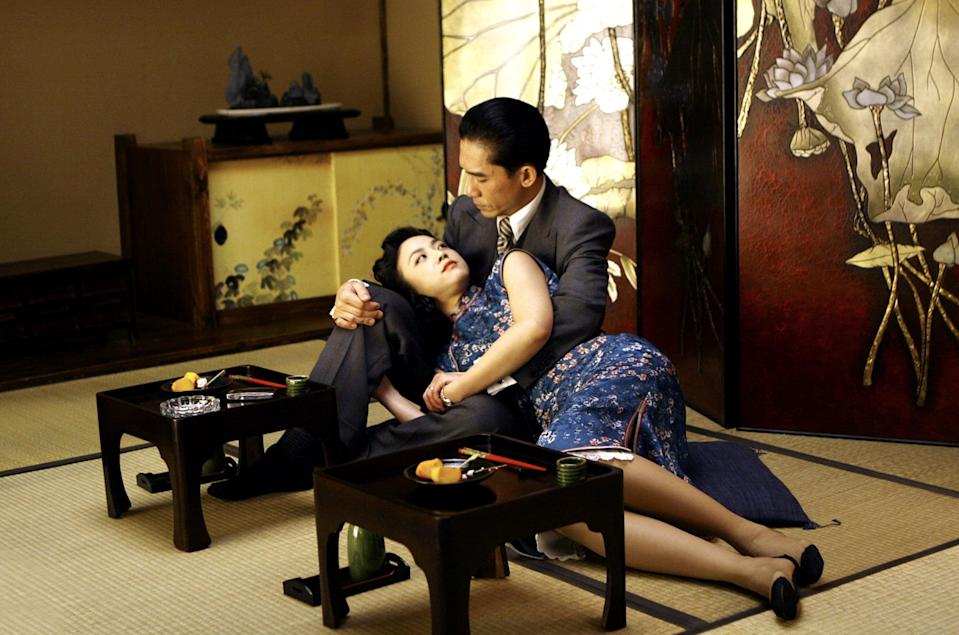"""<p>Set during World War II, the sexy espionage drama, follows a secret agent who's tasked with seducing - and then killing - an official who works for the Japanese puppet government in Shanghai. However, her mission becomes trickier when she engages in a wild love affair with him instead.</p> <p><a href=""""https://www.netflix.com/title/70059999"""" class=""""link rapid-noclick-resp"""" rel=""""nofollow noopener"""" target=""""_blank"""" data-ylk=""""slk:Watch Lust, Caution on Netflix now."""">Watch <strong>Lust, Caution</strong> on Netflix now.</a></p>"""