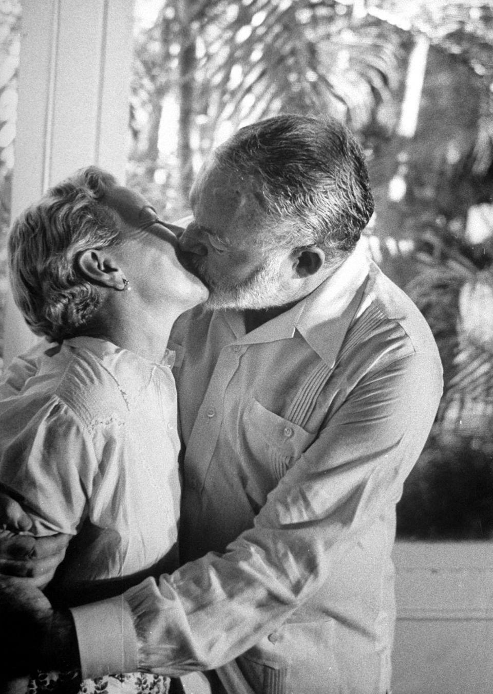"""<p>Hemingway's fourth marriage to wife, Mary, was his <a href=""""https://www.biography.com/news/ernest-hemingway-wives"""" rel=""""nofollow noopener"""" target=""""_blank"""" data-ylk=""""slk:longest union"""" class=""""link rapid-noclick-resp"""">longest union</a>. They were married for nearly 15 years until his death. </p>"""