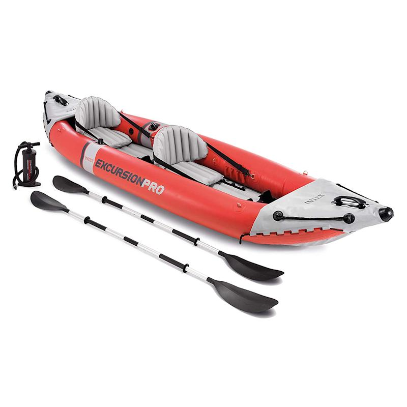 This kayak is made for fishing trips. (Photo: Amazon)
