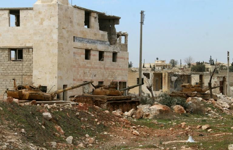 In recent weeks Syrian troops and allied forces backed by Russia have stepped up their offensive against rebel and jihadist groups in the northern provinces of Idlib and Aleppo (AFP Photo/-)