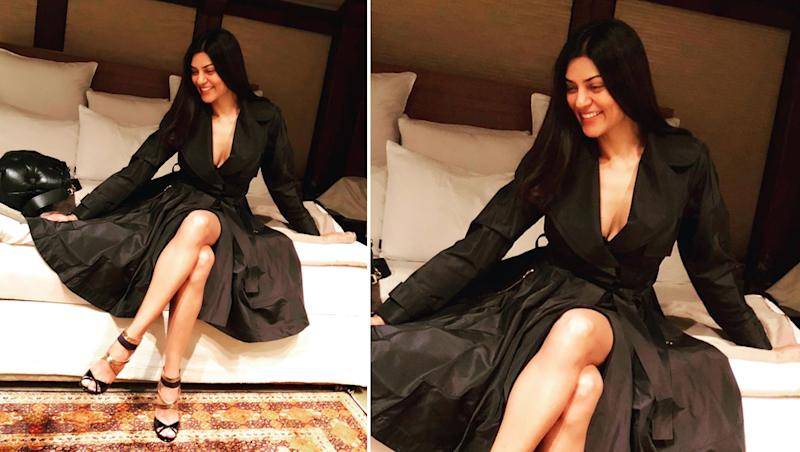 Sushmita Sen Looks Sexy In a Thigh-High Slit Dress: 5 Other Times When Bollywood Beauty Stunned Us in Black!