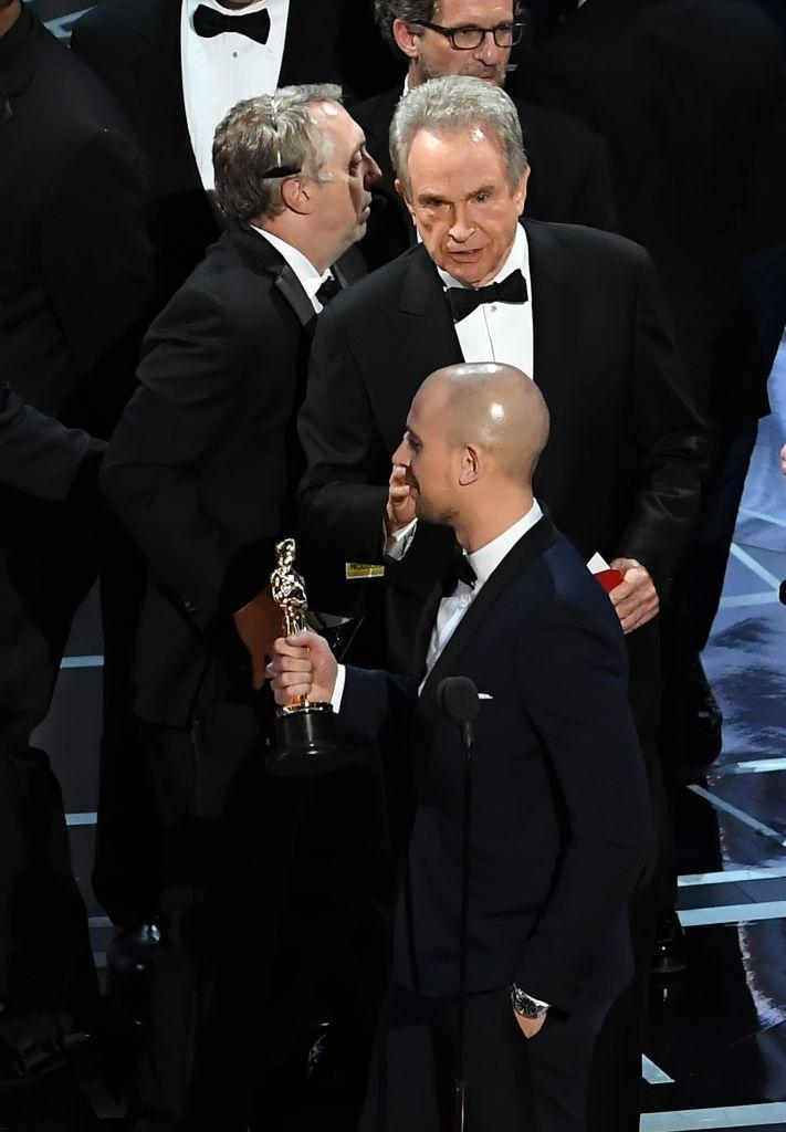 """<p>Who could forget the fail of all fails during the 2017 Oscars? Faye Dunaway and Warren Beatty<span class=""""redactor-invisible-space""""> announced that <em><a href=""""https://www.amazon.com/dp/B01MRR7AUU?ref=sr_1_1_acs_kn_imdb_pa_dp&qid=1547583419&sr=1-1-acs&autoplay=0&tag=syn-yahoo-20&ascsubtag=%5Bartid%7C10055.g.5148%5Bsrc%7Cyahoo-us"""" rel=""""nofollow noopener"""" target=""""_blank"""" data-ylk=""""slk:La La Land"""" class=""""link rapid-noclick-resp"""">La La Land</a></em>, had won Best Picture when it was in fact <em><a href=""""https://www.amazon.com/dp/B01MU9CMGJ?ref=sr_1_1_acs_kn_imdb_pa_dp&qid=1547583434&sr=1-1-acs&autoplay=0&tag=syn-yahoo-20&ascsubtag=%5Bartid%7C10055.g.5148%5Bsrc%7Cyahoo-us"""" rel=""""nofollow noopener"""" target=""""_blank"""" data-ylk=""""slk:Moonlight"""" class=""""link rapid-noclick-resp"""">Moonlight</a></em> that had won the honor. </span></p><p><span class=""""redactor-invisible-space""""><strong>RELATED: </strong><a href=""""https://www.goodhousekeeping.com/life/entertainment/news/a43040/moonlight-oscars-best-picture-what-happened/"""" rel=""""nofollow noopener"""" target=""""_blank"""" data-ylk=""""slk:The Real Reason Why La La Land Was Announced Instead of Moonlight"""" class=""""link rapid-noclick-resp"""">The Real Reason Why <em>La La Land</em> Was Announced Instead of <em>Moonlight</em></a><br></span></p>"""