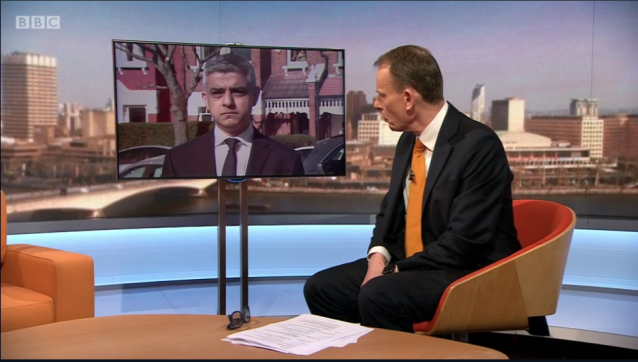 The mayor told Andrew Marr that if people mixed with each other it would lead 'to more people dying'. (BBC)